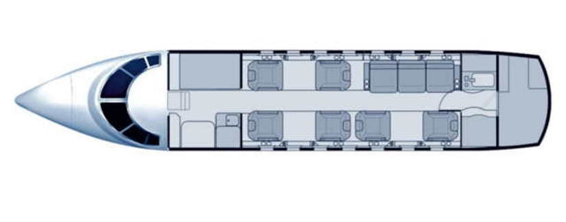 схема самолета Beechcraft Hawker 1000