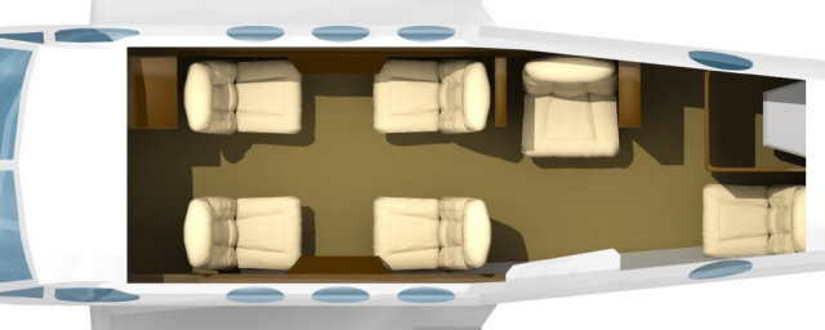 схема самолета Beechcraft King Air 100