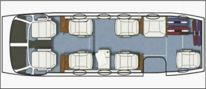 схема самолета Beechcraft King Air 90