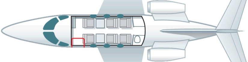 схема самолета Beechcraft Premier I