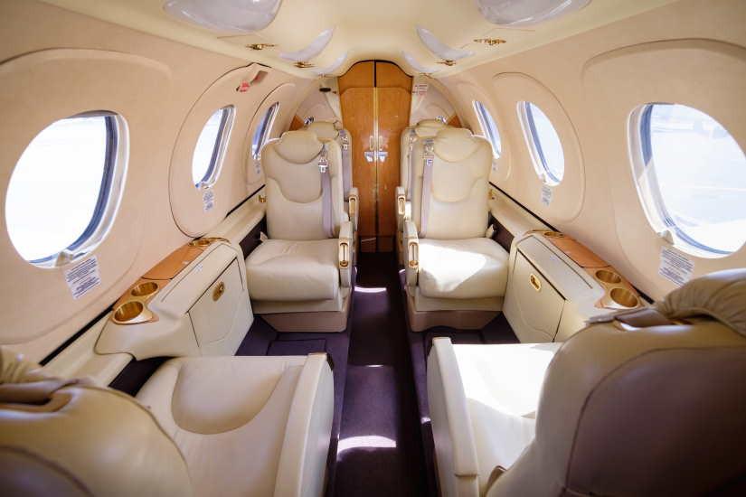 салон самолета Beechcraft Premier I