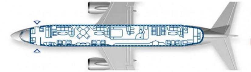 схема самолета Boeing Business Jet 2