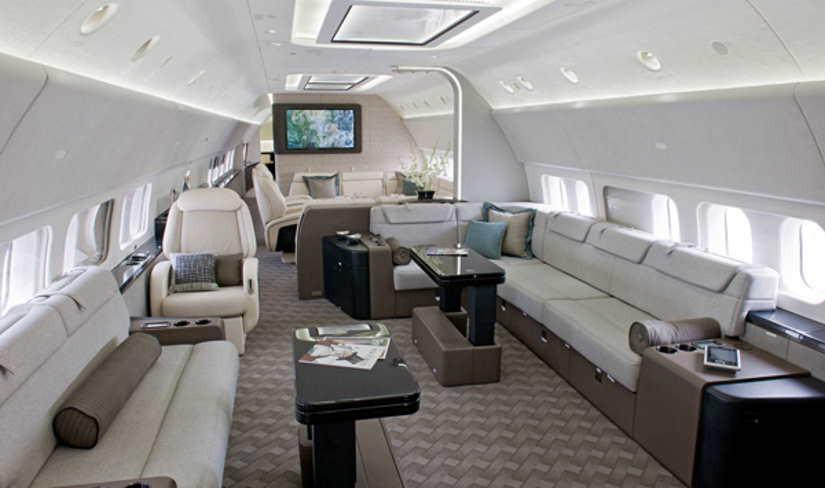 салон самолета Boeing Business Jet 2