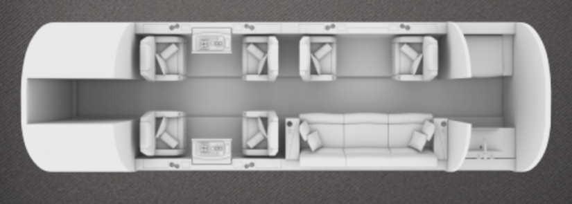 схема самолета Bombardier Challenger 350