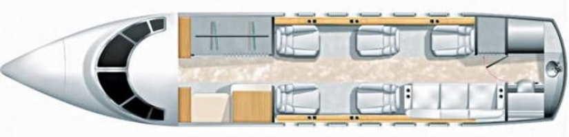 схема самолета Bombardier Challenger 604
