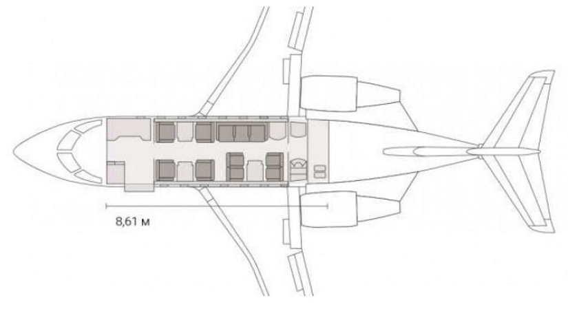 схема самолета Bombardier Challenger 650