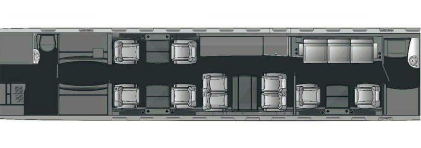 схема самолета Bombardier Global 5000