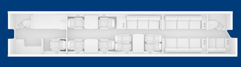 схема самолета Bombardier Global 6000