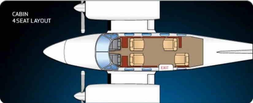 схема самолета Cessna 340