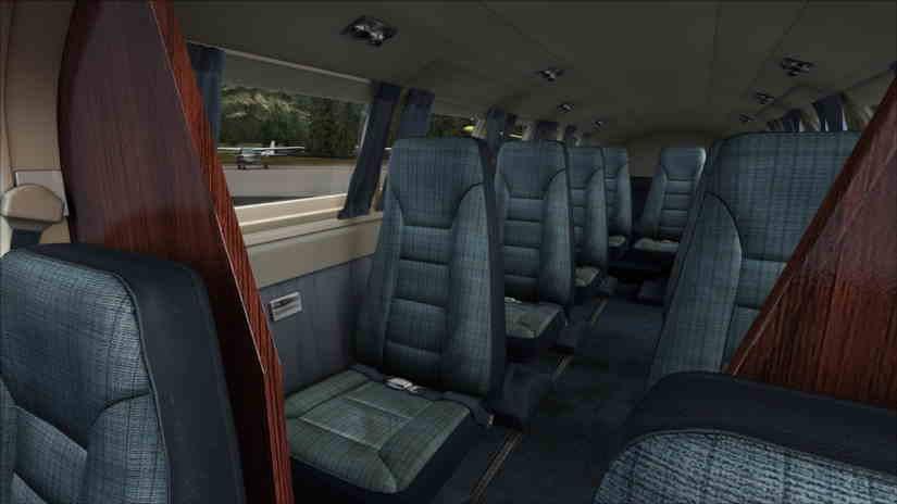 салон самолета Cessna 404