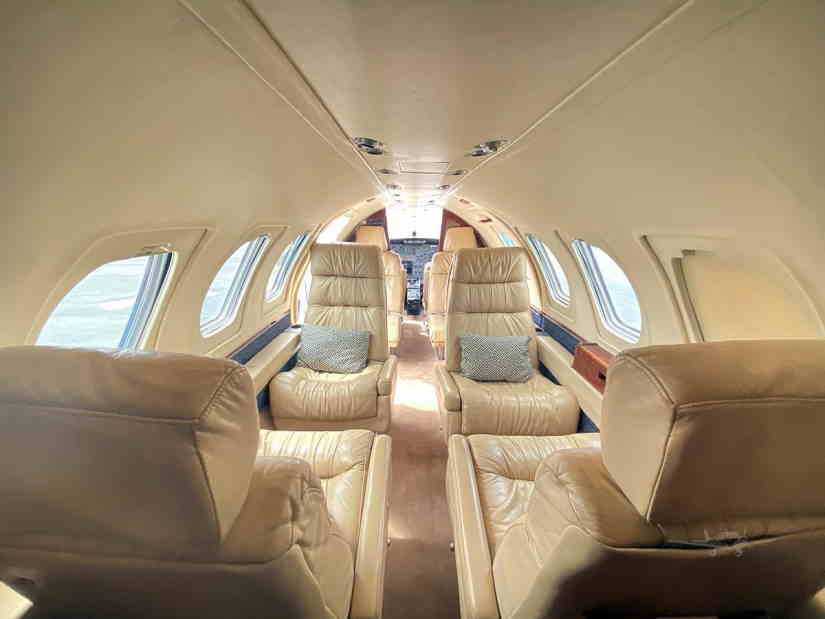 салон самолета Cessna Citation 501