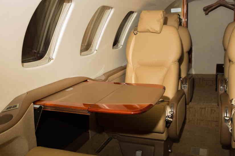салон самолета Cessna Citation Bravo