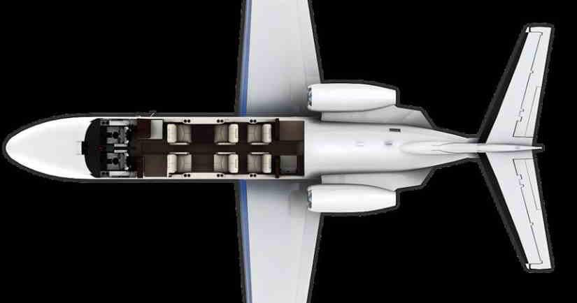 схема самолета Cessna Citation CJ2