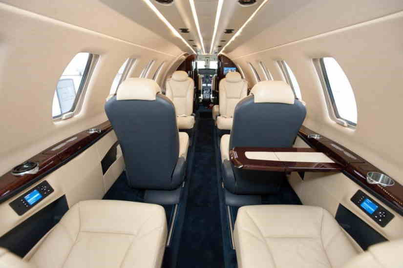 салон самолета Cessna Citation CJ4