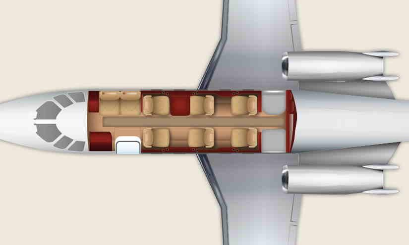 схема самолета Cessna Citation Excel
