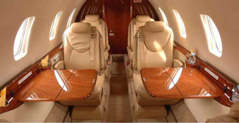 салон самолета Cessna Citation Excel