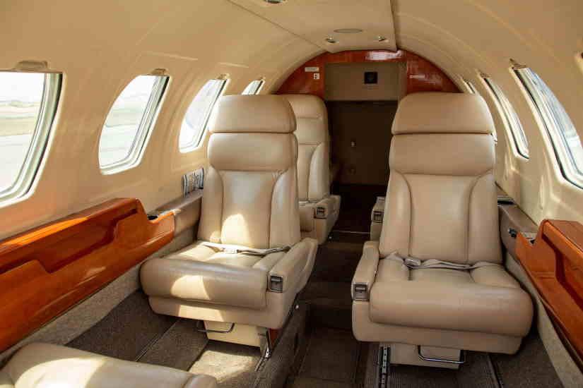 салон самолета Cessna Citation II