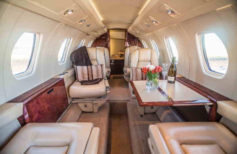 салон самолета Cessna Citation III