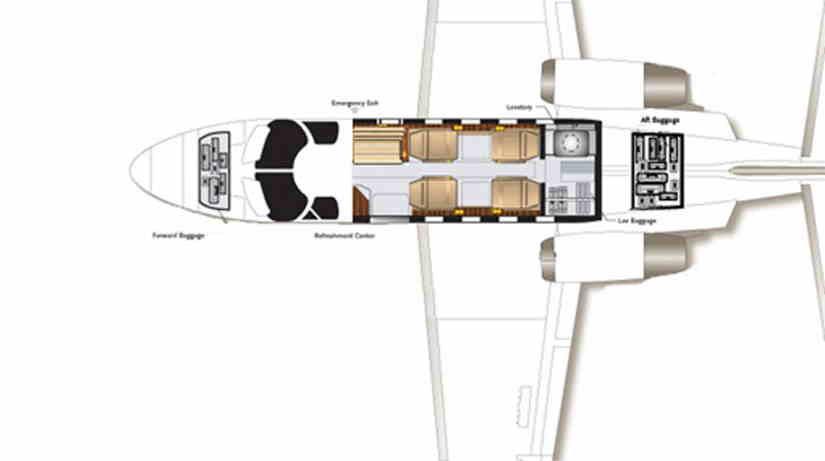 схема самолета Cessna Citation Jet / CJ1