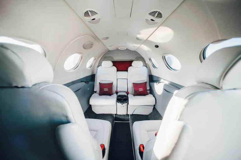 салон самолета Cessna Citation Mustang