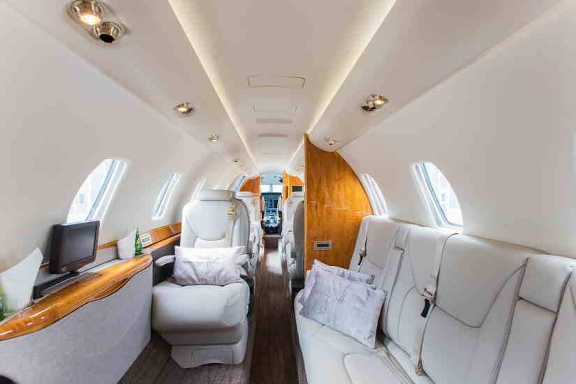 салон самолета Cessna Citation Sovereign