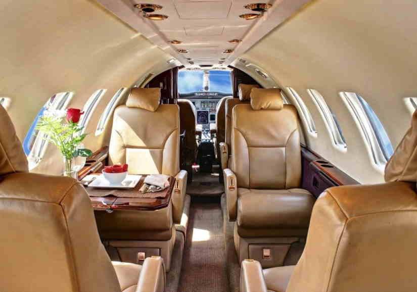 салон самолета Cessna Citation Ultra