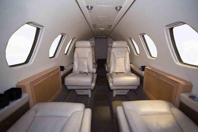салон самолета Cessna Citation V