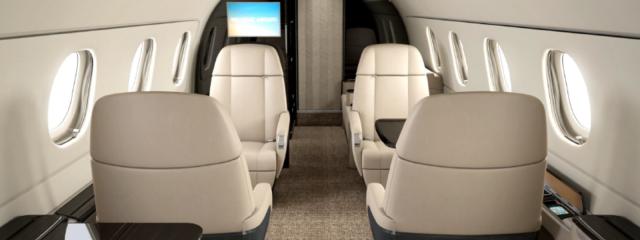 интерьер салона самолета Embraer Legacy 450