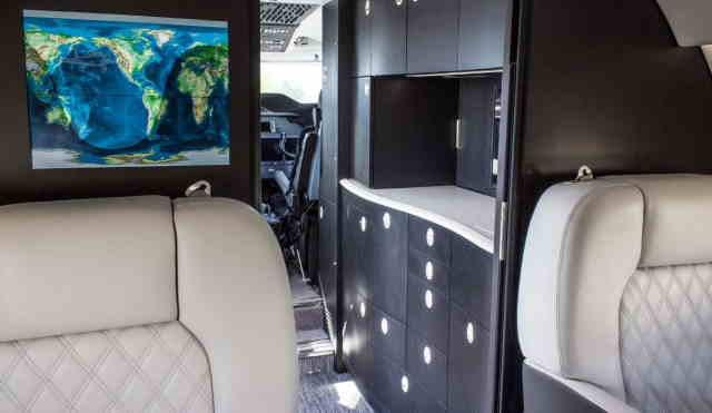 интерьер салона самолета Gulfstream G200