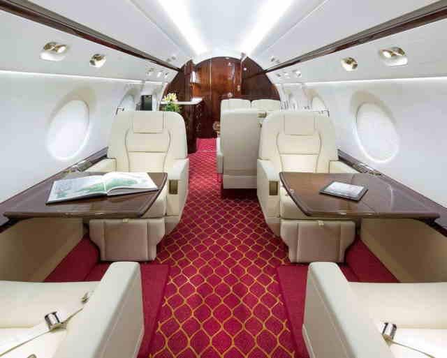 интерьер салона самолета Gulfstream G450