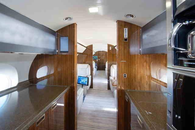 интерьер салона самолета Gulfstream G650
