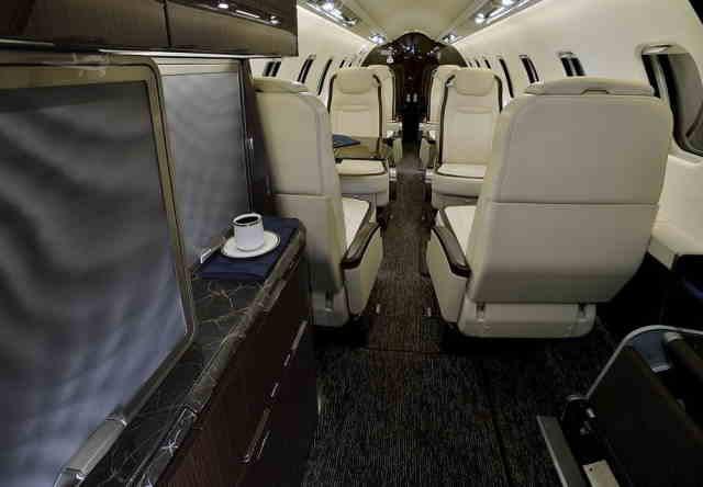интерьер салона самолета Learjet 75