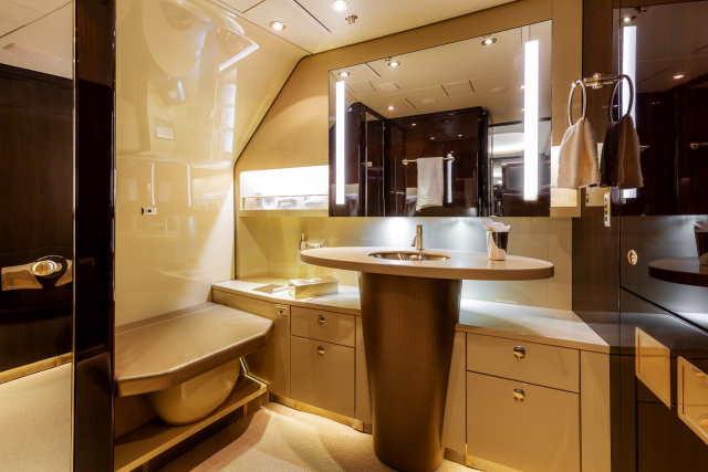туалетная комната бизнес джет Airbus A318 Elite