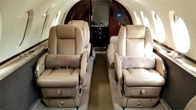 фото частного самолета Beechcraft Hawker 750