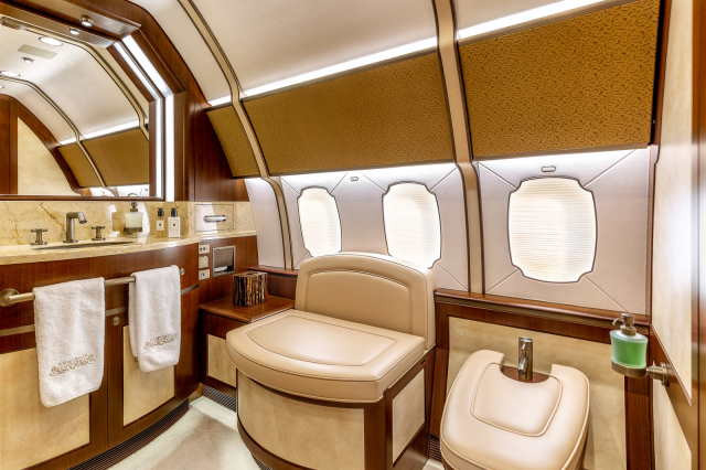 интерьер салона самолета Boeing Business Jet 3