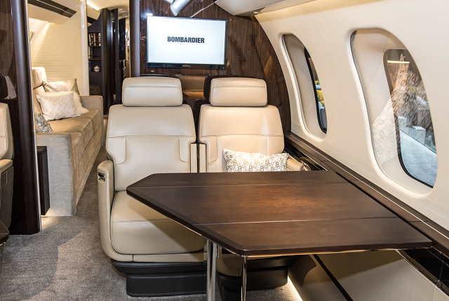 интерьер салона самолета Bombardier Global 7000