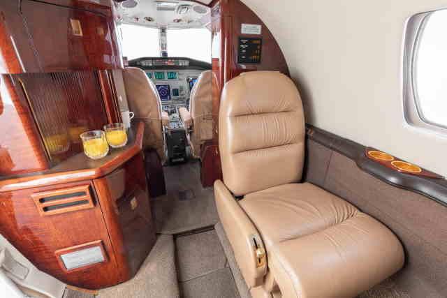 интерьер салона самолета Cessna Citation Encore