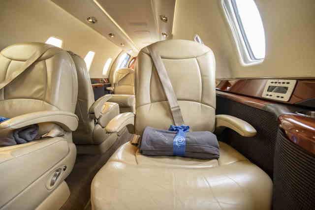 интерьер салона самолета Cessna Citation Sovereign